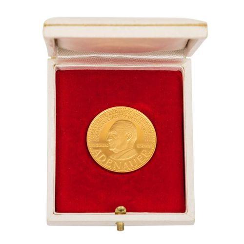 BRD Goldene Gedenkmedaille o.J., FRG Golden commemorative medal n.Y., political …
