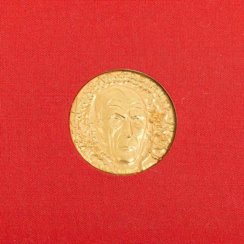 BRD Goldene Gedenkmedaille o.J., FRG Golden commemorative medal n.Y., Konrad Ade…