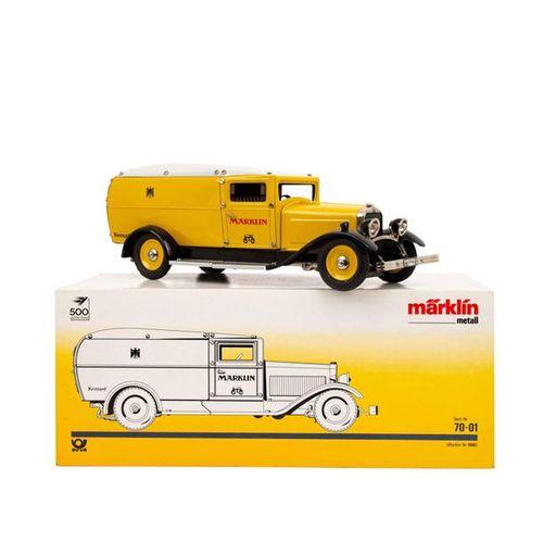 """MÄRKLIN Post Paketauto """"70 01"""", 1990, MÄRKLIN post package car, no. 70 01, 1990,…"""