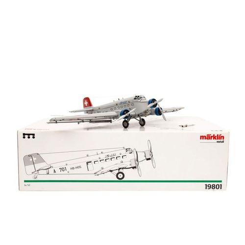"MÄRKLIN schweizer Flugzeug ""Ju 52"" 19801, MÄRKLIN Swiss airplane ""Ju 52"" 19801, …"
