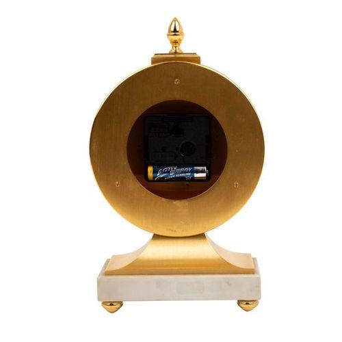 "TISCHUHR ""HOUR LAVIGNE"" TABLE CLOCK ""HOUR LAVIGNE  Paris, 1981, gilded brass and…"