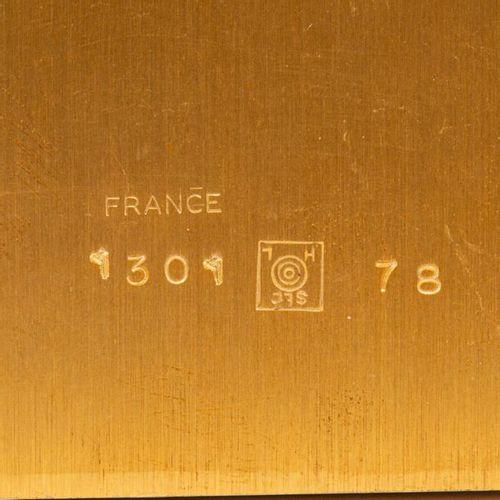 """TISCHUHR """"HOUR LAVIGNE"""" TABLE CLOCK """"HOUR LAVIGNE  Paris, 20. Th. Century, gilde…"""