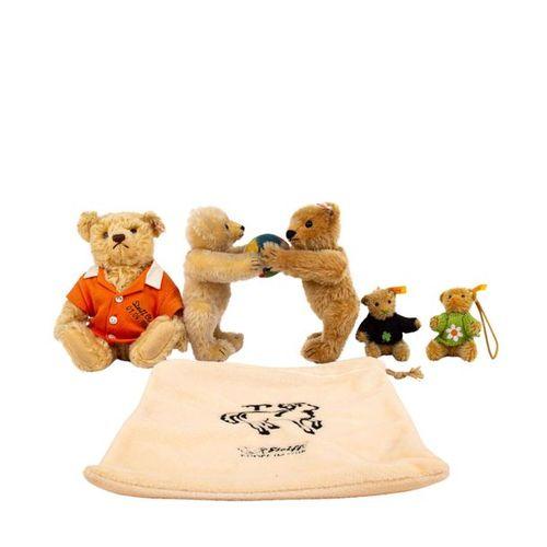 STEIFF 4 tlg Konvolut Bären aus Sonderserien, STEIFF 4 pieces convolute bears of…