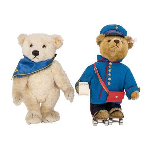 STEIFF zwei Bären für das Postmuseum, 2000 2001 STEIFF two baers for the post mu…