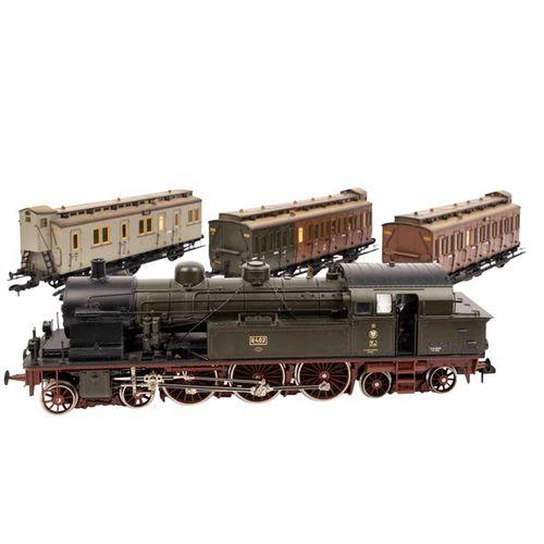 MÄRKLIN preußischer Personenzug der K.P.E.V., Spur 1, MÄRKLIN Prussian passenger…