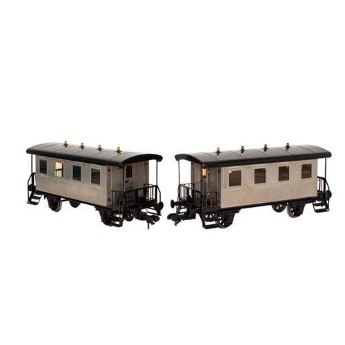 MÄRKLIN MAXI Schlepptenderlok mit zwei Waggons, Spur 1, MÄRKLIN MAXI tender loco…