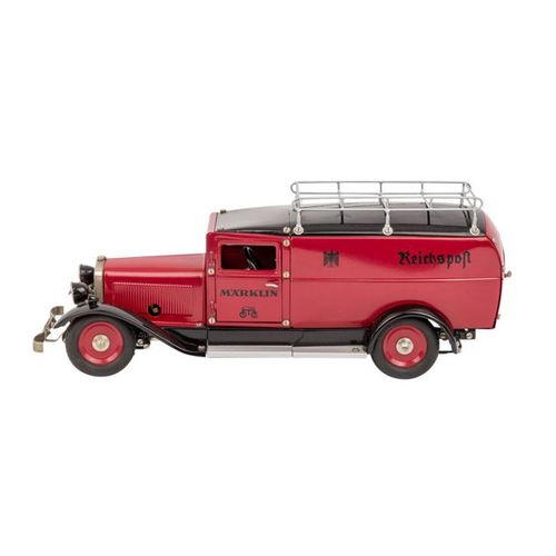 Märklin Reichspostwagen 1989, MÄRKLIN Post car 1989, dark red lacquered sheet me…
