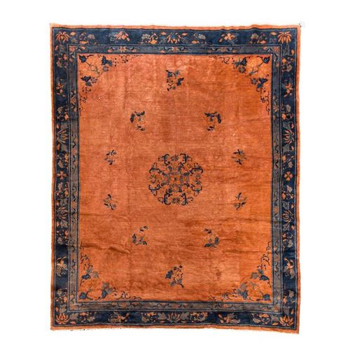 Peking Teppich. CHINA, 287x245 cm. Chinese carpet, 287x245 cm. Medallion carpet …