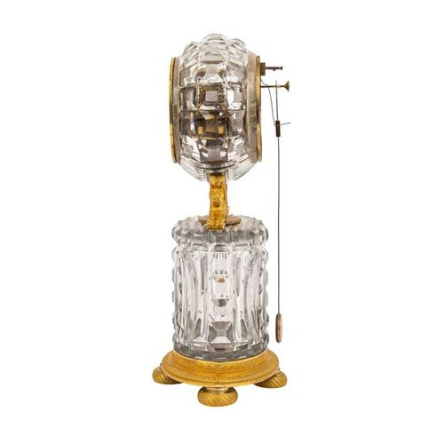 PENDULE CHARLES X PENDULE CHARLES X  France, around 1830, bronze gilded and glas…