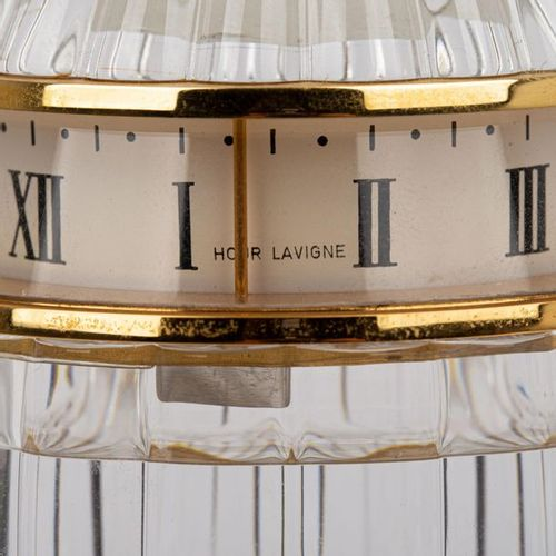 TISCHUHR HOUR LAVIGNE/BACCARAT TABLE CLOCK HOUR LAVIGNE/BACCARAT  Egg shaped cry…