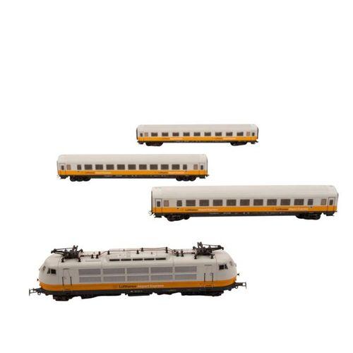 """MÄRKLIN E Lok """"Lufthansa Airport Express"""", Spur H0, MÄRKLIN E Loco """"Lufthansa Ai…"""