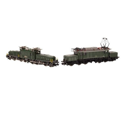 "MÄRKLIN zwei E Loks ""Krokodil"", Spur H0, MÄRKLIN two E locomotives ""crocodile"", …"