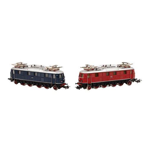 MÄRKLIN paar E Lokomotiven, Spur H0, MÄRKLIN pair of e locomotives, track H0, co…