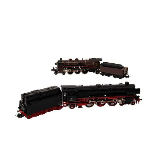 MÄRKLIN paar Schlepptenderlokomotiven, Spur H0, MÄRKLIN pair of tender locomotiv…