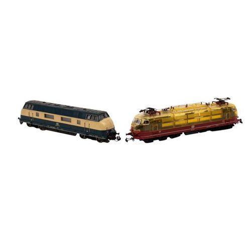 MÄRKLIN zwei Lokomotiven, Spur H0, MÄRKLIN two locomotives, track H0, consists o…