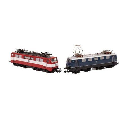 MÄRKLIN zwei E Lokomotiven, Spur H0, MÄRKLIN two e locomotives, track H0, consis…