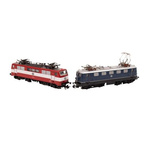 MÄRKLIN zwei E Lokomotiven, Spur H0, MÄRKLIN two e locomotives, track H0, consis…