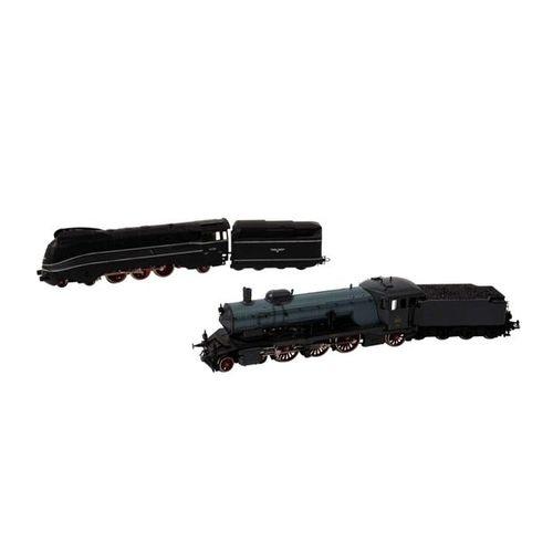 MÄRKLIN zwei Schlepptenderlokomotiven, Spur H0, MÄRKLIN two tender locomotives, …