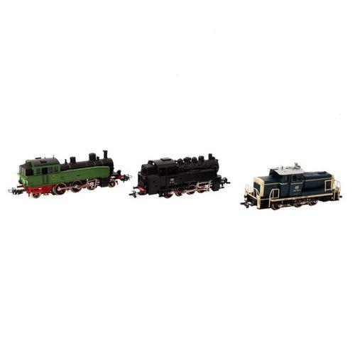 MÄRKLIN 3 tlg Konvolut Lokomotiven, Spur H0, MÄRKLIN 3 part set of locomotives, …