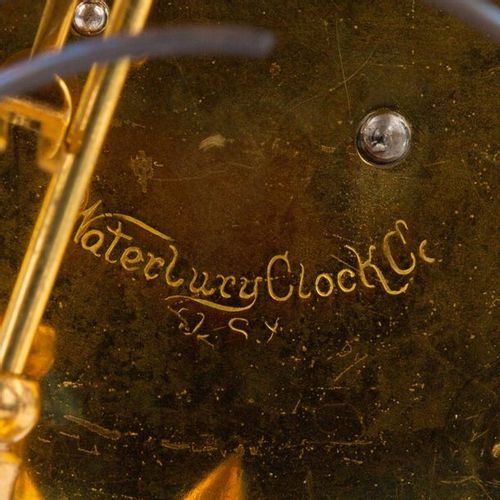 WATERBURY CLOCK CO TISCHUHR, WATERBURY CLOCK CO TABLE CLOCK, USA, 19./20. Centur…