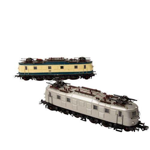 MÄRKLIN 2 tlg E Lok Set, Spur H 0, MÄRKLIN set of two e locomotives, track H0, c…