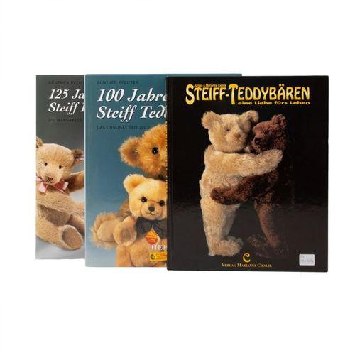 "STEIFF/MÄRKLIN Plüschbär ""Karl"" und Steiff Bücher, STEIFF/MÄRKLIN plush bear ""Ka…"