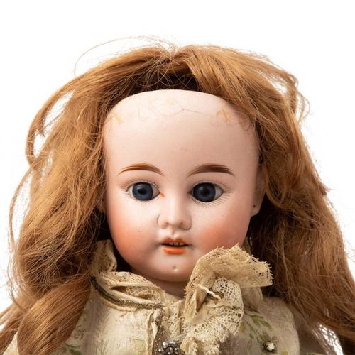 Porzellankopfpuppe, 1.H. 20. Jh., Bisque head doll, 1st half of the 20th century…