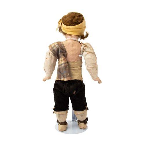 Kurbelkopf Puppe, 19./20. Jh. Crank head doll, 19/20 th century, head and limbs …