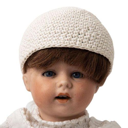 Kleine Porzellankopfpuppe, 1. H. 20. Jh., Small bisque head doll, 1st half of th…