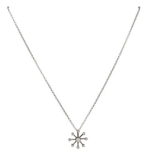 Anhänger mit 9 Brillanten Pendant with 9 brilliant cut diamonds totalling approx…