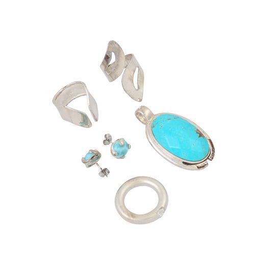 Schmuckkonvolut 10 teilig, 10 piece dealer's lot, silver,182 g, consisting of 1 …