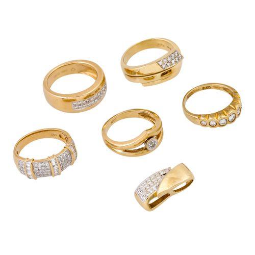 Schmuckkonvolut 6 teilig, 6 piece dealer's lot, 14K yellow gold, 37.9 g, consist…