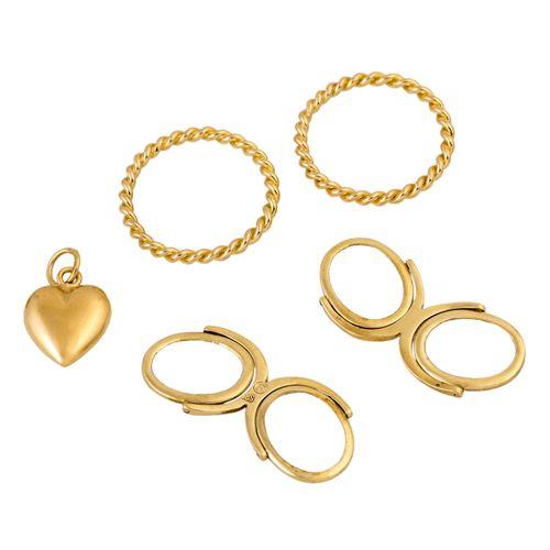 Schmuckkonvolut 6 teilig, 6 piece dealer's lot, 14K yellow gold, 47.3 g, consist…
