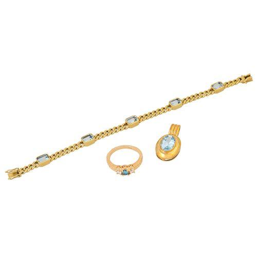 Schmuckkonvolut 3 teilig, 3 piece dealer's lot, 14K yellow gold, 35.1 g, consist…