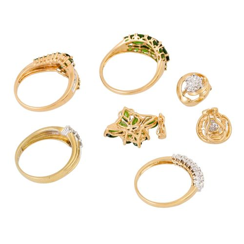 Schmuckkonvolut 6 teilig, 6 piece dealer's lot, 14K yellow gold, 20.6 g, consist…