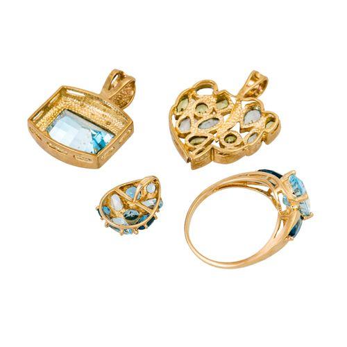 Schmuckkonvolut 4 teilig, 4 piece dealer's lot, 9K yellow gold, 15 g, consisting…
