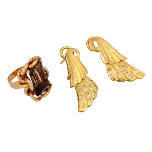 Schmuckkonvolut 2 teilig, 2 piece dealer's lot, 18K yellow and rose gold, 29.3 g…