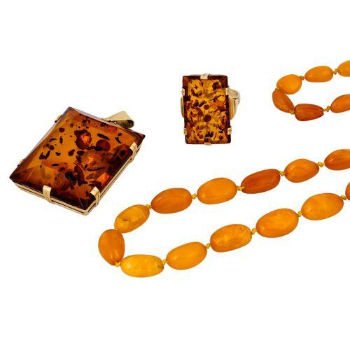 Schmuckkonvolut 3 teilig, 3 piece dealer's lot, 14K yellow gold, 40.5 g, consist…