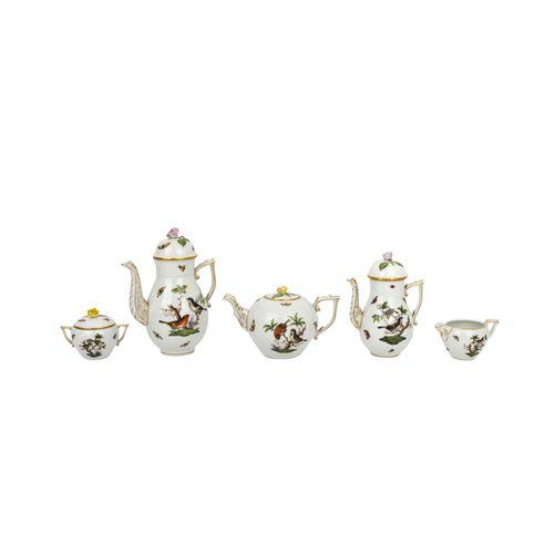 """HEREND """"Rothschild"""" umfangreiches Kaffee und Teeservice für 12 Personen, 20. Jh.…"""