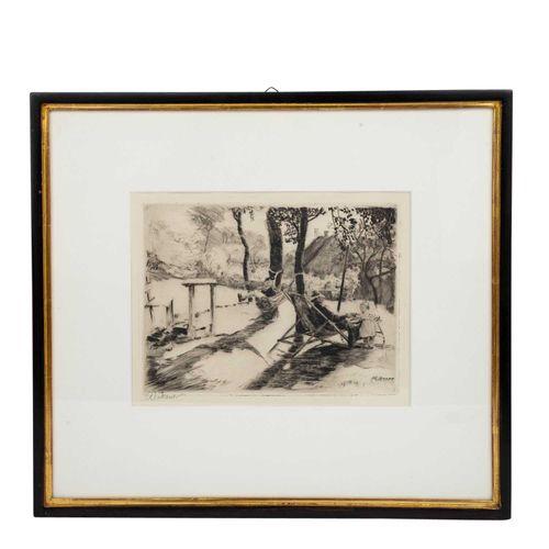 """ECKENER, ALEXANDER (1870 1944), """"Familie im sommerlichen Garten"""", ECKENER, ALEXA…"""