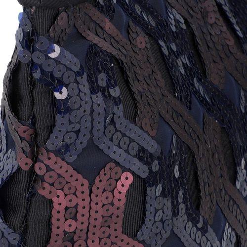 MIU MIU Clutch. Pochette MIU MIU. Textile en noir avec garniture à paillettes dé…