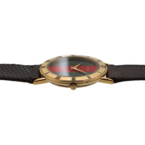 """GUCCI VINTAGE Armbanduhr """"3000.2.M"""". Montre GUCCI VINTAGE """"3000.2.M"""". Boîtier de…"""
