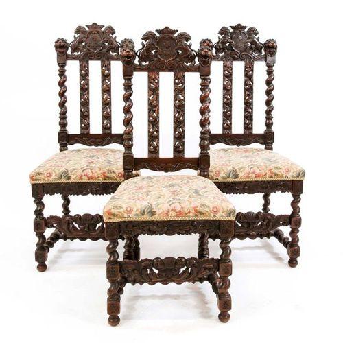 Satz von drei Danziger Stühlen