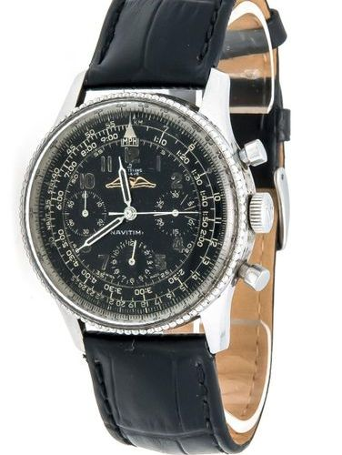 Breitling Navitimer 806, early steel version circa 1956, manual winding caliber …