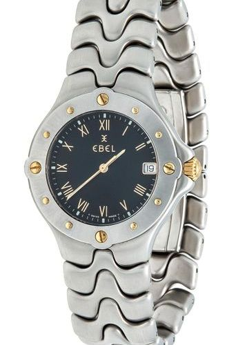 Ebel men's quartz watch Sportwave, steel/gold, sapphire crystal, screwed back, b…
