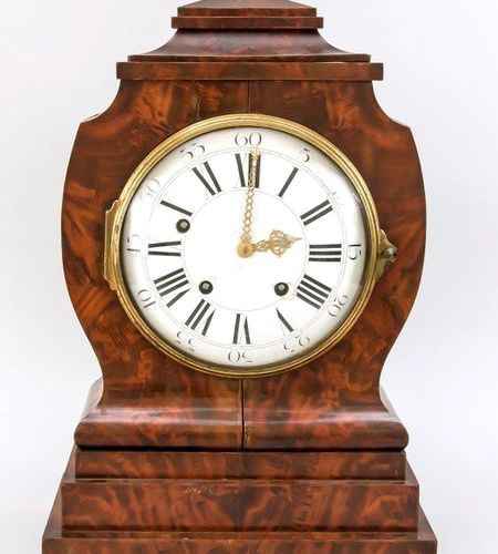Biedermeier table clock with 1/4 hour striking movement and carillon, case root …