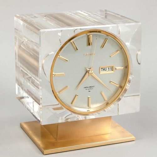 Seiko High Beat table clock, with 16 Jewels, extremely rare model from the 1960s…