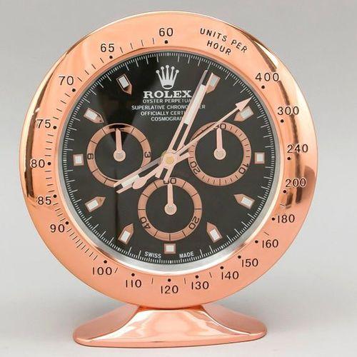 Table clock, advertising clock, window advertising, Rolex Daytona, rose color go…