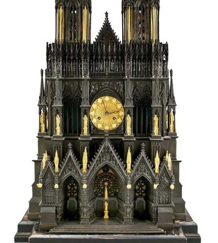 Rare large museum replica of the gothic cathedral v. Reims in France, executed i…