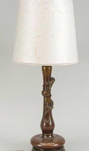 Vase with quilin/dragon mounted as a lamp, China, 19th c., bronze. White, slight…